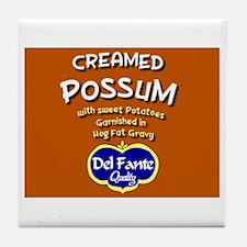 Creamed Possum Tile Coaster