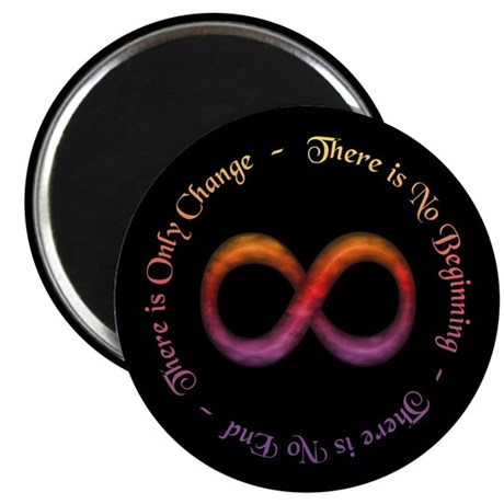 """Infinity Is Change 2.25"""" Magnet (10 pack)"""
