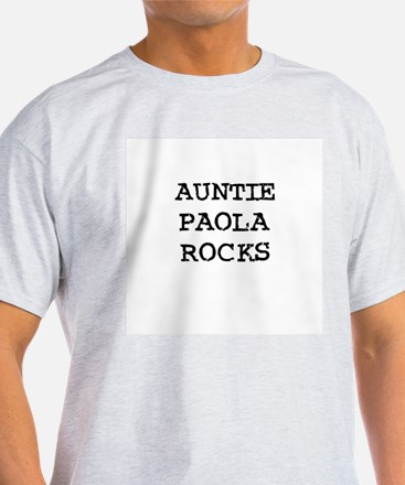 AUNTIE PAOLA ROCKS Ash Grey T-Shirt
