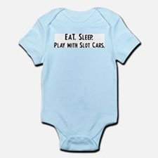 Eat, Sleep, Play with Slot Ca Infant Creeper