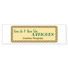 Antiques Bumper Bumper Sticker