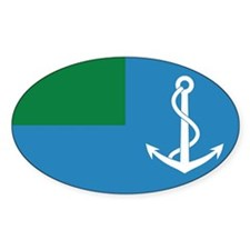 Libya Naval Ensign Oval Decal