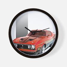 Mustang 1973 RWBpic Wall Clock