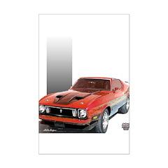 Mustang 1973 RWBpic Posters