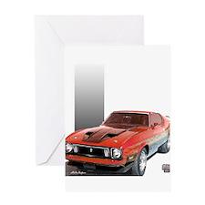 Mustang 1973 RWBpic Greeting Card