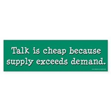 Talk Is Cheap (sticker)