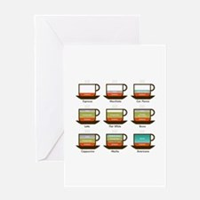 Espresso drinks Greeting Cards