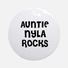 AUNTIE NYLA ROCKS Ornament (Round)