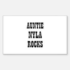 AUNTIE NYLA ROCKS Rectangle Decal
