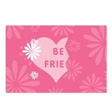 Pink Best Friends Heart Left Postcards (Package of