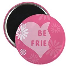 Pink Best Friends Heart Left Magnet