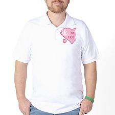 Pink Best Friends Heart Left T-Shirt