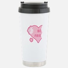 Pink Best Friends Heart Left Travel Mug