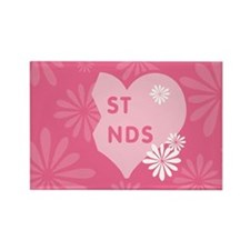 Pink Best Friends Heart Right Rectangle Magnet