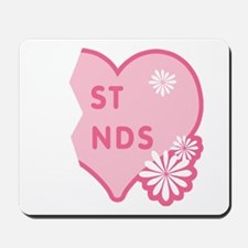 Pink Best Friends Heart Right Mousepad