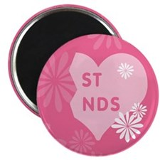 Pink Best Friends Heart Right Magnet