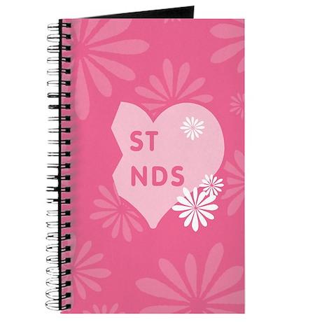 Pink Best Friends Heart Right Journal
