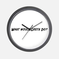 What would Greta do? Wall Clock