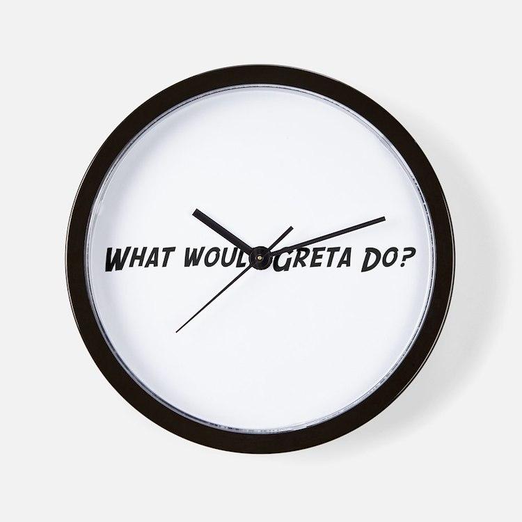 What would Greta do? Wall Clock