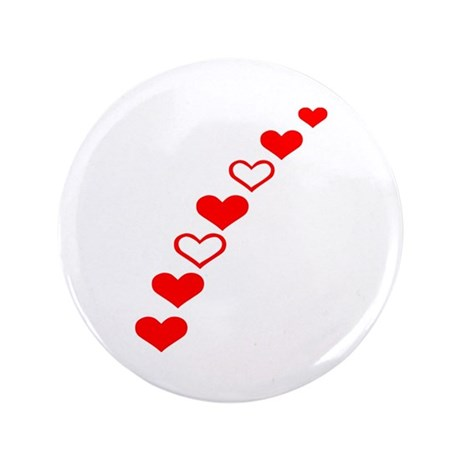 "Hearts 3.5"" Button (100 pack)"