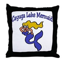 Finger Lake Mermaids Throw Pillow