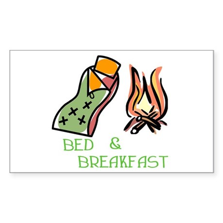 Bed And Breakfast Rectangle Sticker