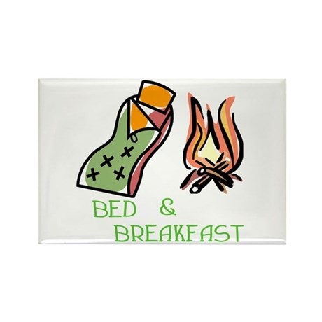 Bed And Breakfast Rectangle Magnet (100 pack)