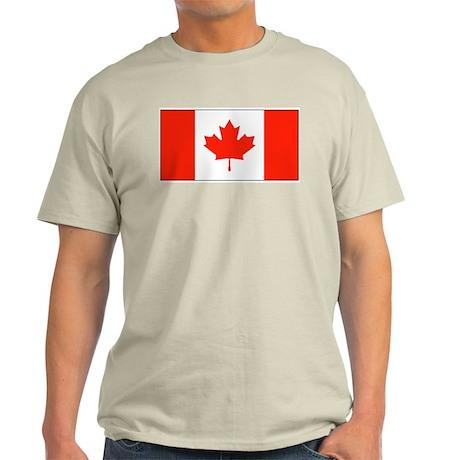 Canada Canadian Blank Flag Ash Grey T-Shirt
