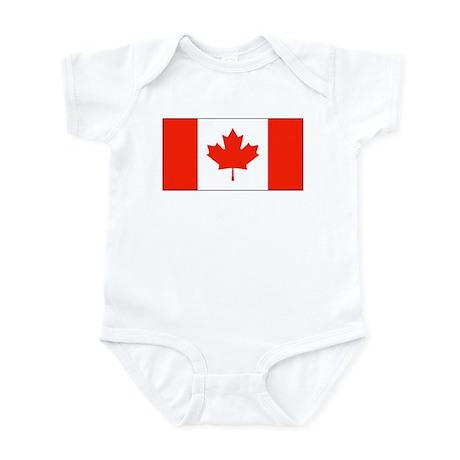 Canada Canadian Blank Flag Onesie Onesies