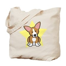 Star Kawaii Corgi Tote Bag