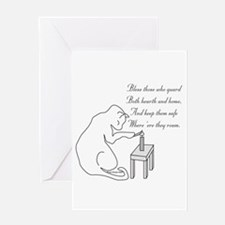 Bless Those Who Guard Greeting Card