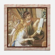 Piano-Renoir - Tile Coaster