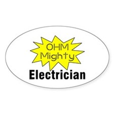 Ohm MIghty Oval Decal