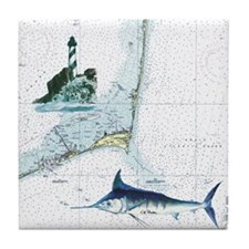 Nautical Chart Tile Coaster