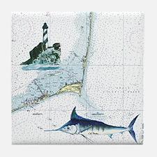Nautical Chart Tile Coaster