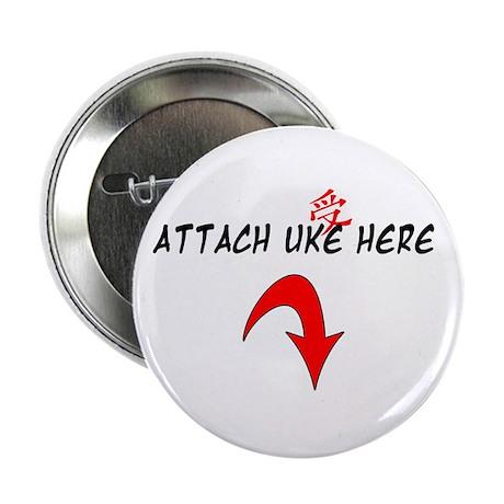 """Attach Uke Here 2.25"""" Button"""