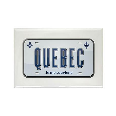 Quebec Rectangle Magnet