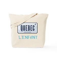 Quebec L'Enfant Tote Bag