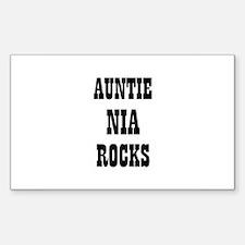 AUNTIE NIA ROCKS Rectangle Decal
