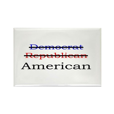 Nonpartisan American Rectangle Magnet (100 pack)