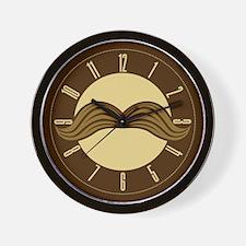 Retro Moustache Wall Clock