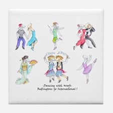 Dancing Bedlies Tile Coaster