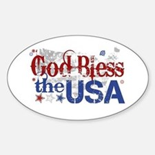 God Bless the USA Oval Decal