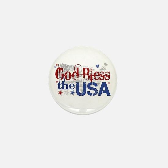 God Bless the USA Mini Button