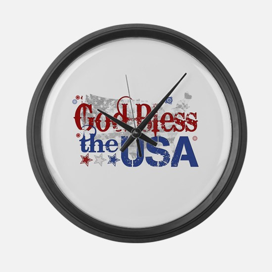 God Bless the USA Large Wall Clock