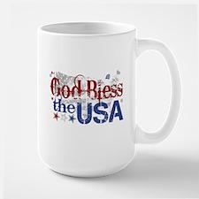 God Bless the USA Large Mug