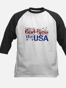 God Bless the USA Kids Baseball Jersey