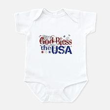 God Bless the USA Infant Bodysuit