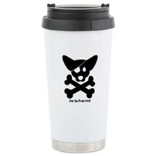 Pirate Corgi Skull Travel Coffee Mug