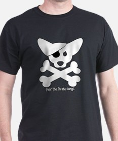 Pirate Corgi Skull T-Shirt